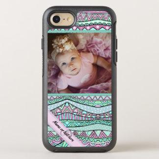 おもしろいのガーリーで幾何学的なパステル調パターン オッターボックスシンメトリーiPhone 8/7 ケース