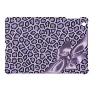 おもしろいのガーリーな紫色のヒョウ iPad MINIカバー