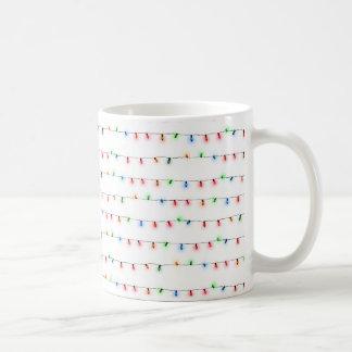 おもしろいのクリスマスの照明の休日のコーヒーカップ コーヒーマグカップ