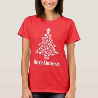 おもしろいのクリスマスツリーの休日のTシャツ Tシャツ