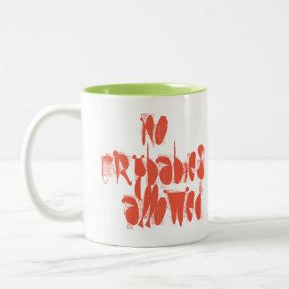 おもしろいのコーヒー・マグ許可される泣き虫無し ツートーンマグカップ