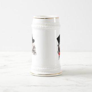 おもしろいのゴシック様式スカルの入れ墨のスタイル ビールジョッキ