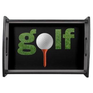 おもしろいのゴルフスポーツのデザイン トレー