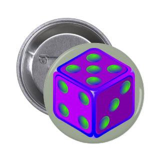 おもしろいのサイコロのテーマボタン 5.7CM 丸型バッジ
