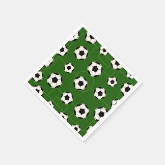 おもしろいのサッカーボールのスポーツパターンパーティーのナプキン スタンダードカクテルナプキン