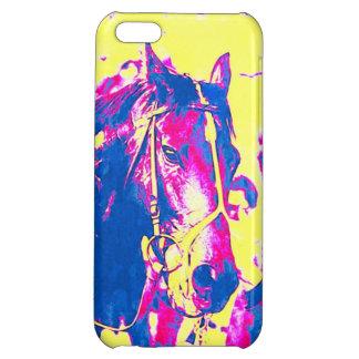 おもしろいのシアトルのたくさんの純血種の競馬馬の水彩画 iPhone5Cケース
