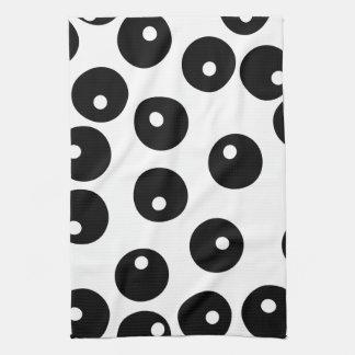 おもしろいのスタイリッシュな白黒パターン。 カスタム キッチンタオル