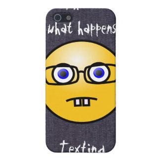 おもしろいのスマイリーフェイスの目のガラス容器のiPhone 4 iPhone 5 Cover