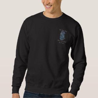 おもしろいのスローガンを用いる黒いラブラドル犬のポートレートの芸術 スウェットシャツ