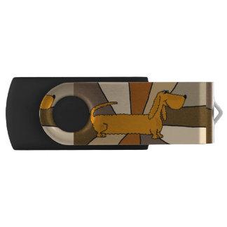 おもしろいのダックスフント犬の抽象芸術USBドライブ USBフラッシュドライブ