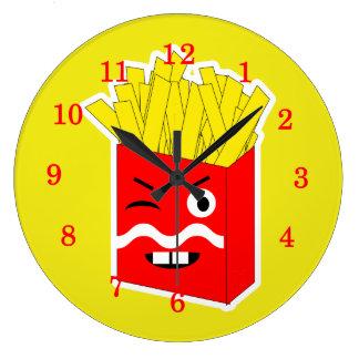 おもしろいのノベルティのフライドポテト ラージ壁時計