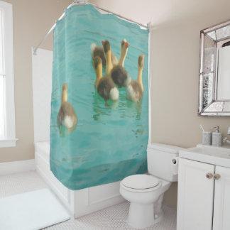 おもしろいのノベルティの赤ん坊のガチョウ動物の芸術 シャワーカーテン