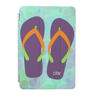 おもしろいのビーチの泡およびビーチサンダルの任意イニシャル iPad MINIカバー