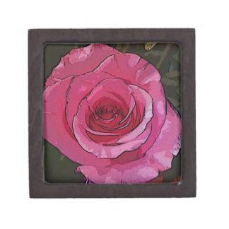 おもしろいのピンクの芸術的でシックなバラの花びら ギフトボックス