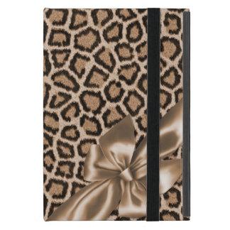 おもしろいのブラウンのヒョウのプリント iPad MINI ケース