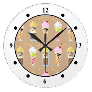 おもしろいのミルクセーキのデザイン ラージ壁時計