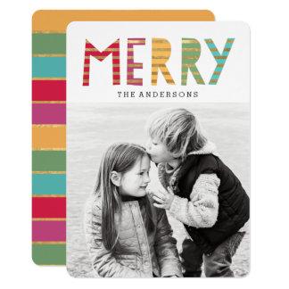 おもしろいのメリーな休日の写真カード 12.7 X 17.8 インビテーションカード