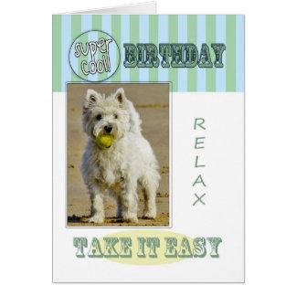 おもしろいのモダンのウエスト・ハイランド・ホワイト・テリア犬カード カード