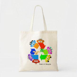 おもしろいのリサイクルのバッグは…します….かいま見リサイクルか。 トートバッグ