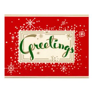おもしろいのレトロのクリスマスの挨拶の郵便はがき ポストカード