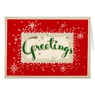 おもしろいのレトロの挨拶のクリスマスカード カード