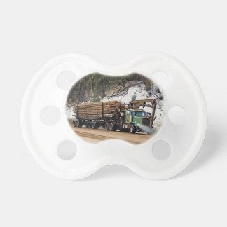 おもしろいのログイン-ログアウトの記録のトラック運転手の芸術のデザイン おしゃぶり