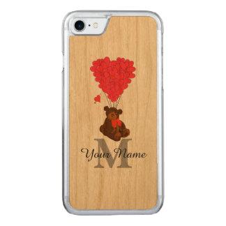 おもしろいのロマンチックなテディー・ベア CARVED iPhone 8/7 ケース