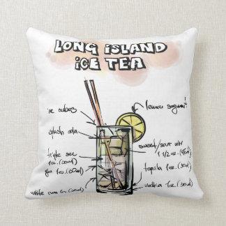 おもしろいのロングアイランドのアイスティーのレシピの装飾的な枕 クッション