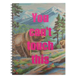 おもしろいのヴィンテージPBNはおもしろいな屋外場面ノートに耐えます ノートブック