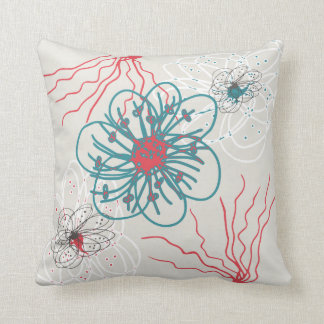 おもしろいの予測できない花-手描きの芸術の枕 クッション