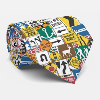 おもしろいの交通標識パターンタイ カスタムタイ