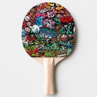 おもしろいの動的および爆発性の都市通りの芸術Graffit 卓球ラケット