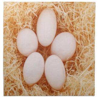 おもしろいの卵か干し草のアメリカ人のMoJoのナプキン ナプキンクロス