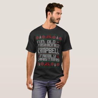 おもしろいの古いファッション、キャンベル家族のクリスマス Tシャツ