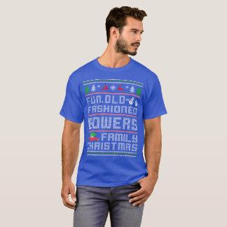 おもしろいの古いファッション、木陰家族のクリスマス Tシャツ