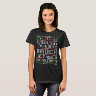 おもしろいの古いファッション、BROCK家族のクリスマス Tシャツ