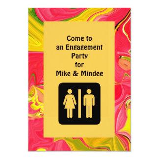 おもしろいの婚約の招待 カード