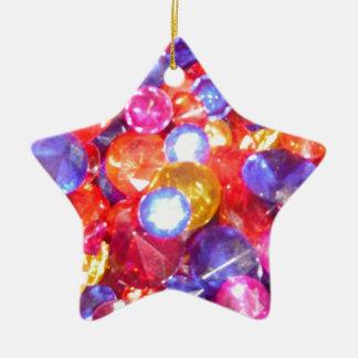 おもしろいの宝石の宝石のカラフルな色の鮮やかなかわいらしい セラミックオーナメント