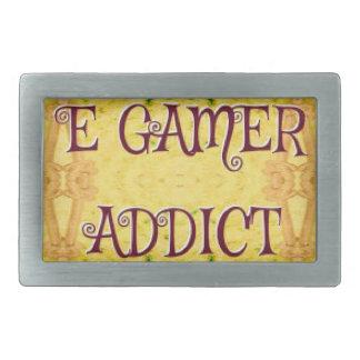 おもしろいの新しい黄色「Eのゲーマーの常習者 長方形ベルトバックル