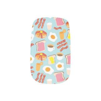 おもしろいの朝食用食品のイラストレーションパターン ネイルアート