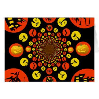 おもしろいの気味悪いハロウィンの万華鏡のように千変万化するパターンパターン カード