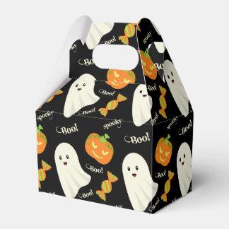 おもしろいの気味悪いハロウィンの幽霊のカボチャキャンデーパターン フェイバーボックス