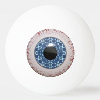 おもしろいの気色悪く青い眼球のデザイン 卓球ボール