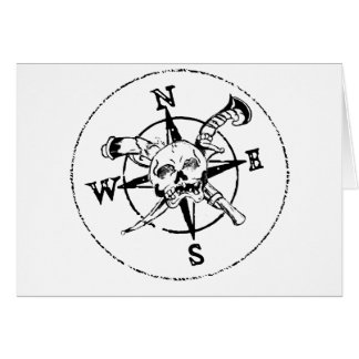 おもしろいの海賊コンパスのロゴ カード