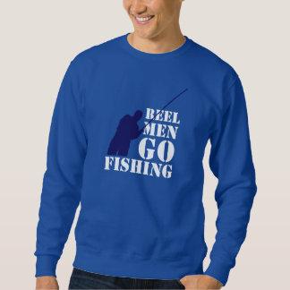 おもしろいの漁師メッセージ: 巻き枠の人は採取することを行きます スウェットシャツ