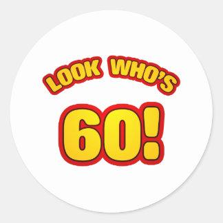 おもしろいの第60バースデー・プレゼント ラウンドシール