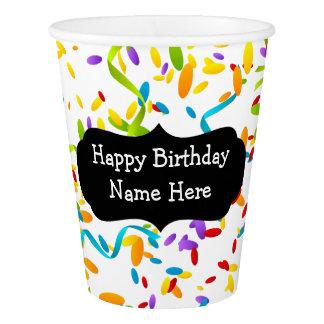 おもしろいの紙吹雪のスタイルの誕生日のコップ 紙コップ