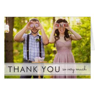 おもしろいの結婚は挨拶状単に感謝していしています グリーティングカード
