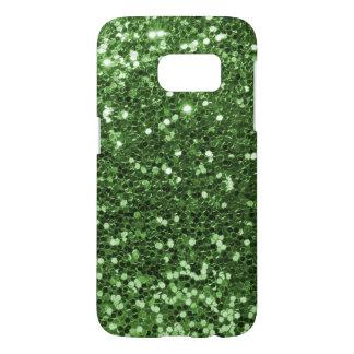 おもしろいの緑の模造のなグリッターの写真のプリント SAMSUNG GALAXY S7 ケース