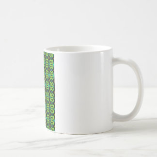 おもしろいの緑パターン コーヒーマグカップ